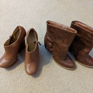 2 pairs of short boots Size 8.5